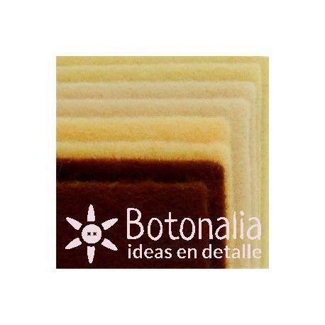 8 Felt sheets DINA4 - Natural colors