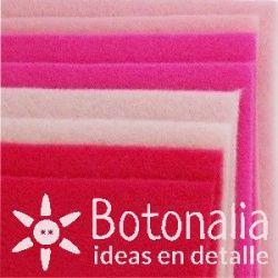 8 Felt sheets DINA4 - Pink colors
