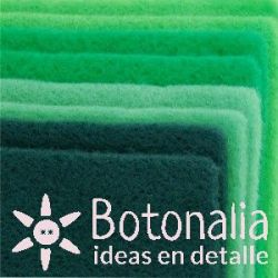 8 hojas de fieltro DINA4 - Tonos verdes