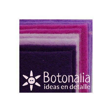 8 hojas de fieltro DINA4 - Tonos violetas