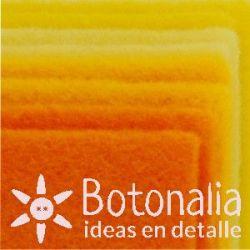 8 Felt sheets DINA4 - Orange and yellow colors