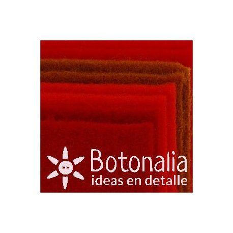 8 hojas de fieltro DINA4 - Tonos rojos