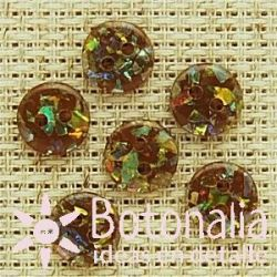 Round button - Brown 9 mm