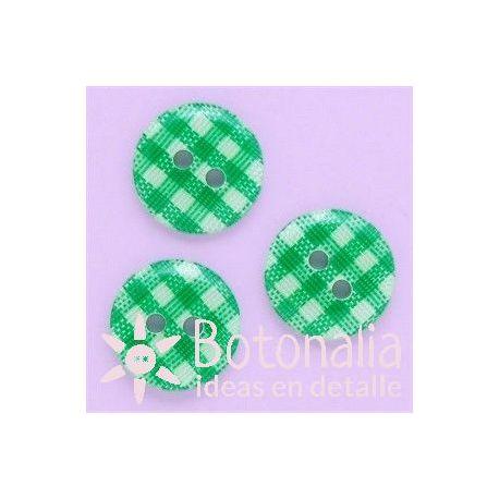 Cuadros Vichy verde 13 mm