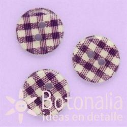 Cuadros Vichy violeta 13 mm