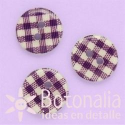 Gingham in purple 13 mm