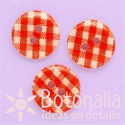 Gingham in red 13 mm