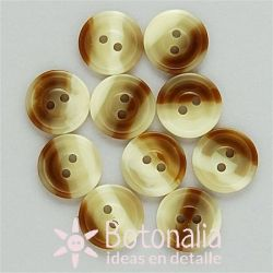 10 botones redondos veteados 11 mm