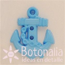 Anchor in light blue 25 mm