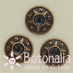 Jeans button in gold color 15 mm