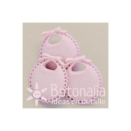 Bib in pink 23 mm