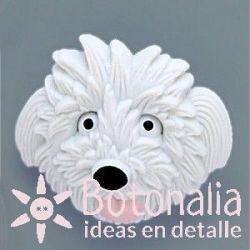 Dog head in white 26 mm