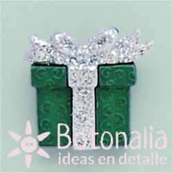 Christmas gift in green 22 mm