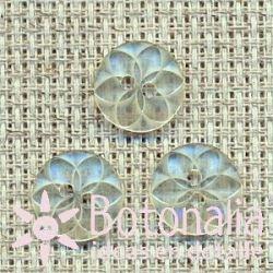 Flor geométrica transparente 11 mm