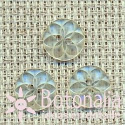 Geometric flower (transparent) 11 mm