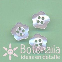 Simple flower with pearl effect 11 mm
