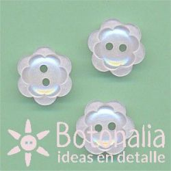 Double flower with pearl effect 15 mm