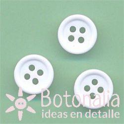 Botón blanco 11 mm