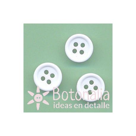 Button in white 11 mm