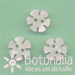 Flower with pearl effect 12 mm