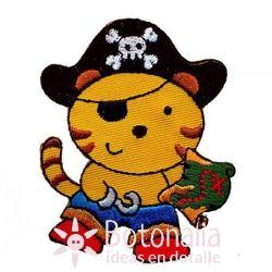 Tigre pirata con mapa