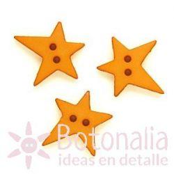 Star with an irregular shape in ochre 19 mm