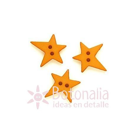 Star with an irregular shape in ochre 19 mm