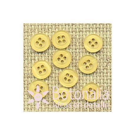 10 botones amarillos 10 mm