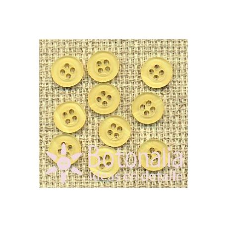 10 yellow buttons 10 mm