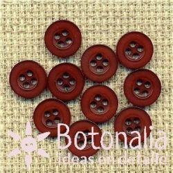 10 botones granate 10 mm