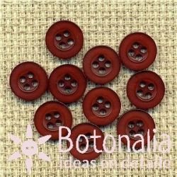 10 maroon buttons 10 mm