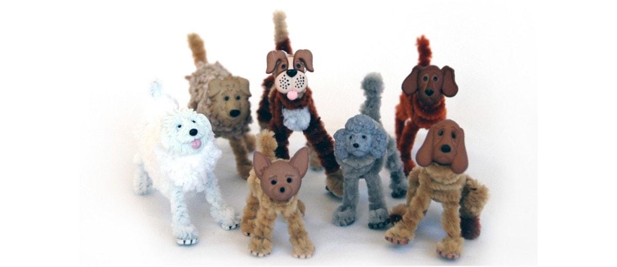 Animales hechos con limpiapipas y botones